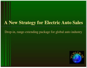 New strategy for electric auto sales